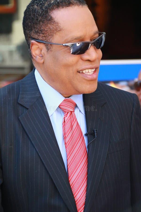Larry Elder. On Hollywood Walk of Fame stock photo