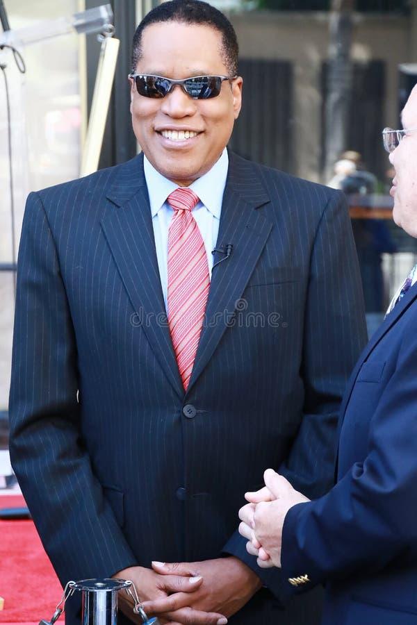 Larry Elder. On Hollywood Walk of Fame stock photos