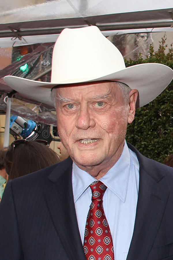 Larry Hagman. At the Cabaret 40th Anniversary Restoration Premiere as part of the 2012 TCM Classic Film Festival Opening Night Gala, Chinese Theatre, Hollywood stock photography