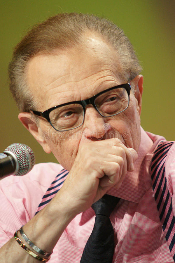 Larry King photos libres de droits