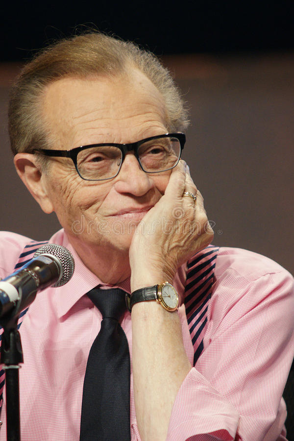 Larry King. At the WICT conference in Montreal,Quebec royalty free stock photos