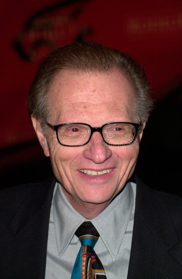 Larry King image libre de droits