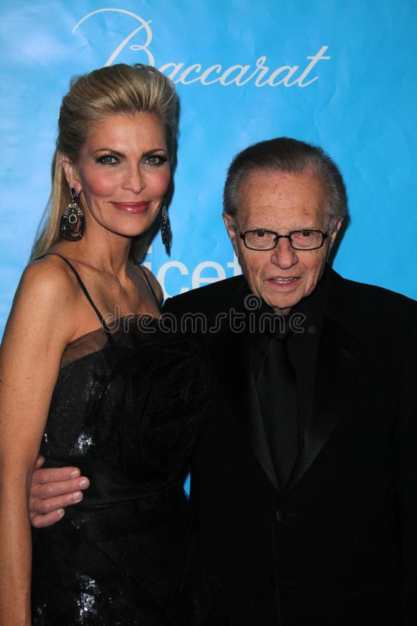 Larry King, Shawn Southwick photographie stock libre de droits