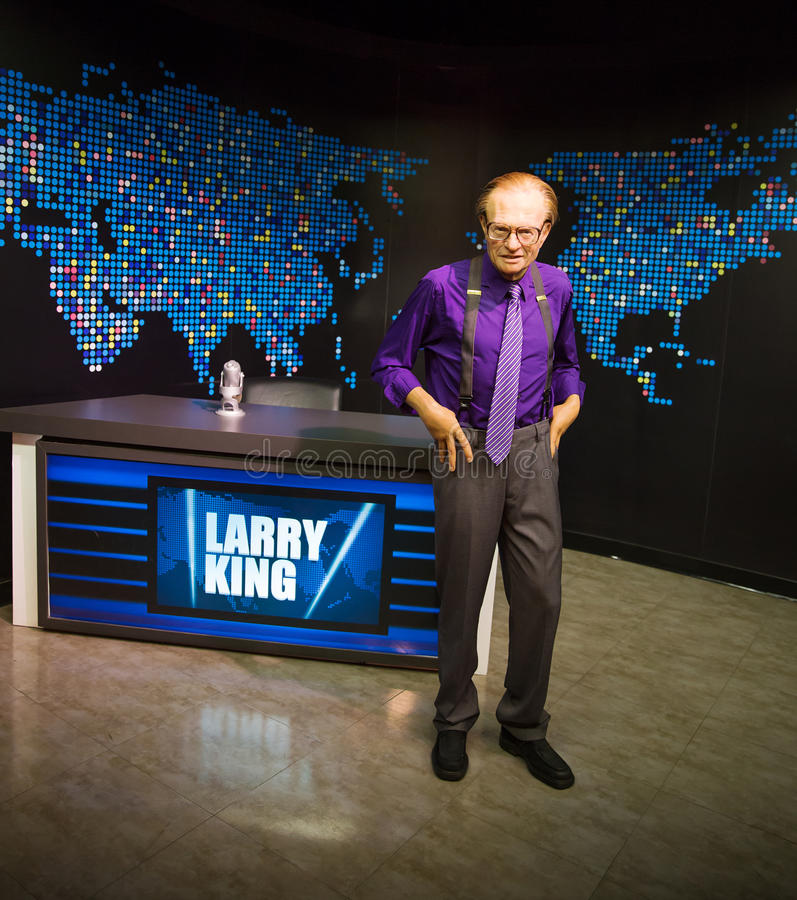 Larry King. Wax statue of Larry King, communicator and celebrity, Madame Tussauds museum Las Vegas royalty free stock image