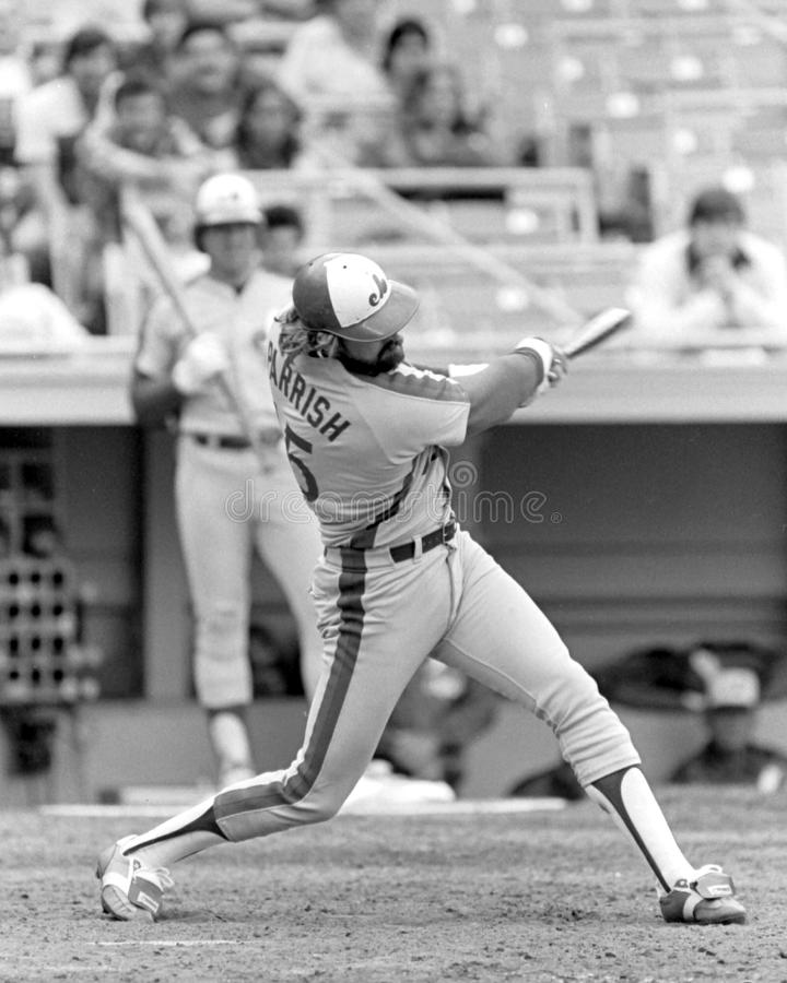 Larry Parrish. Montreal Expos star Larry Parrish. (Image taken from b&w negative stock photography