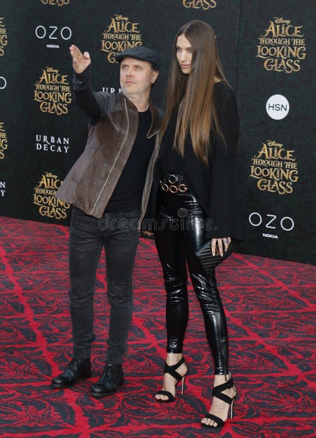 Lars Ulrich и Джессика Miller стоковое изображение