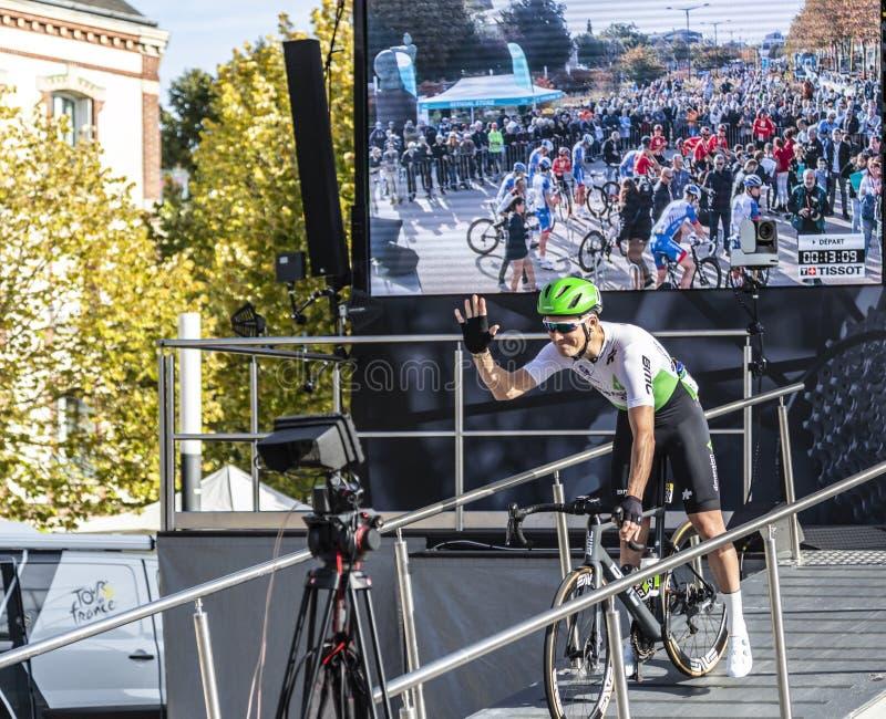 Lars Ytting Bak - Paris-Tours 2019 royalty free stock images