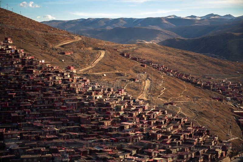 Larung Gar Sertar Sichuan China 2015 arkivfoto