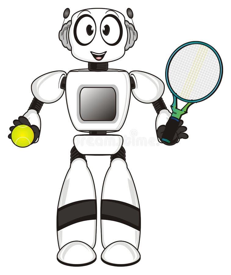 Larwa i tenis royalty ilustracja