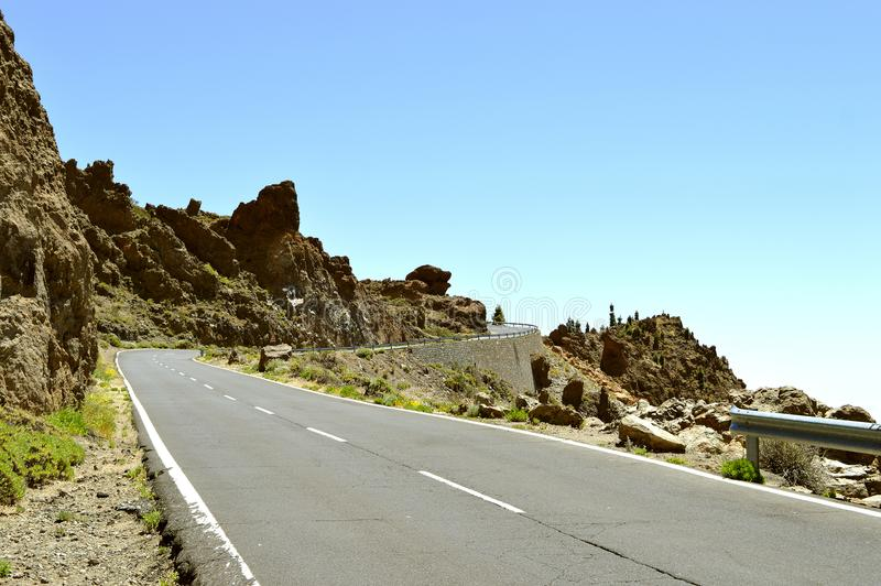 Lasów Casas w góry Teide parku narodowym zdjęcie stock
