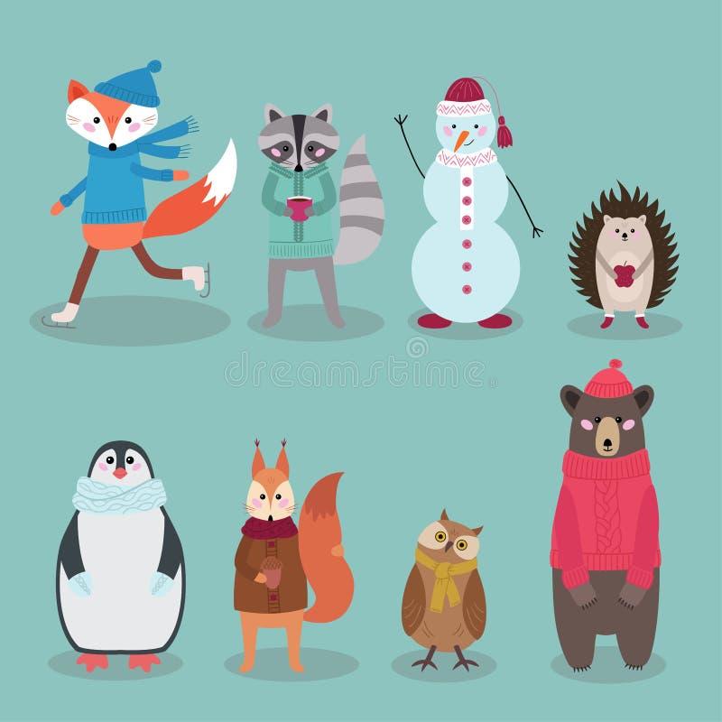 Lasów zwierząt kolekcja, wektorowa ilustracja ilustracja wektor