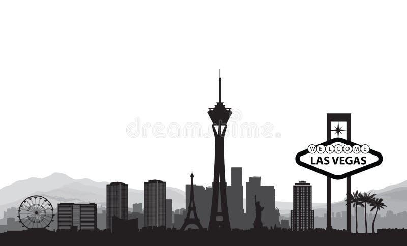 las地平线维加斯 旅行美国城市地标背景 皇族释放例证