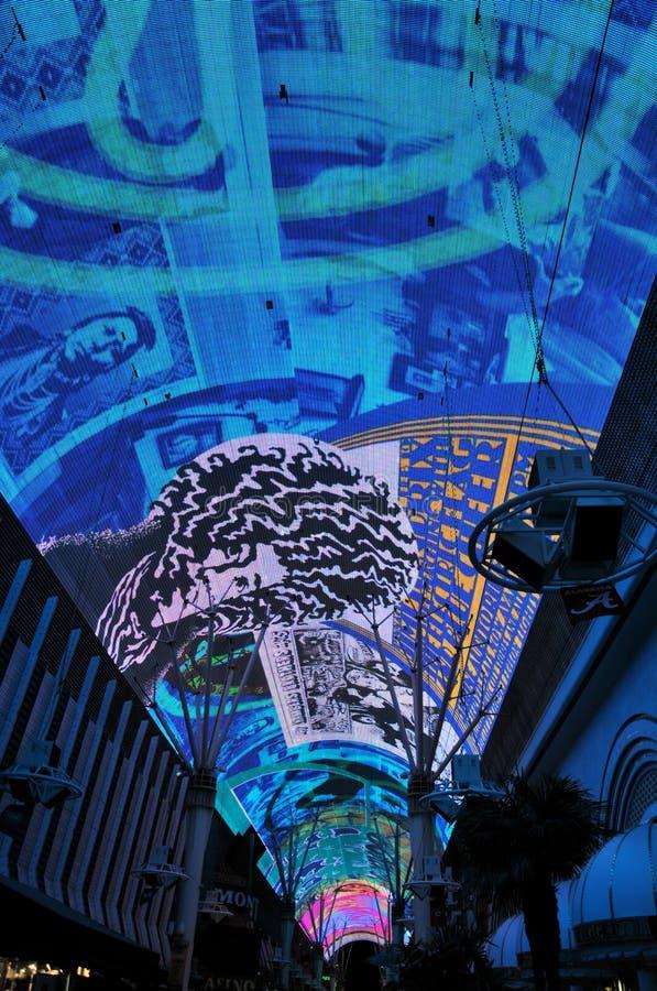 las晚上显示维加斯 免版税图库摄影