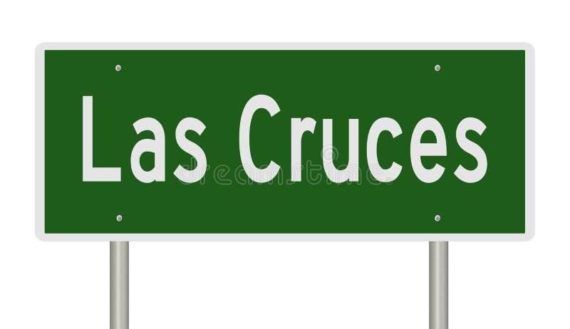 Las的克鲁塞斯新墨西哥高速公路标志 向量例证