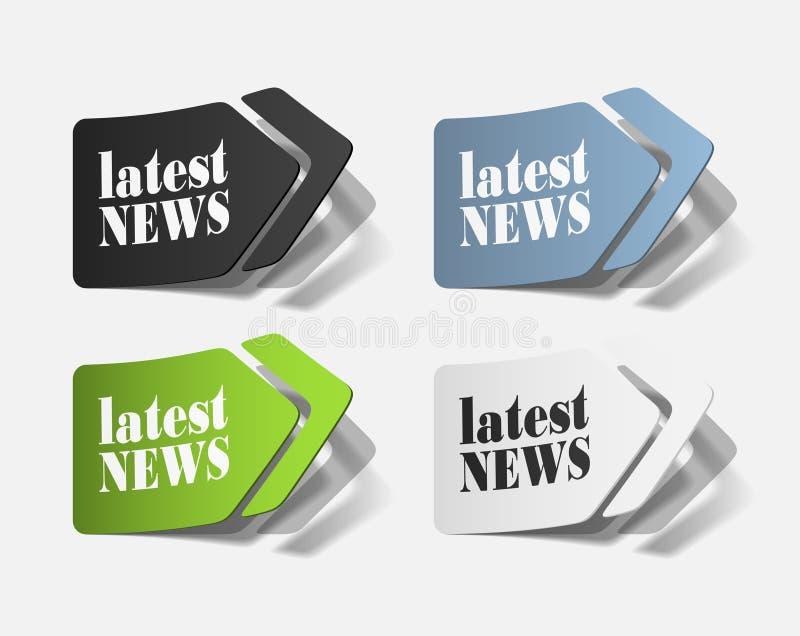Las últimas noticias, elementos realistas del diseño ilustración del vector