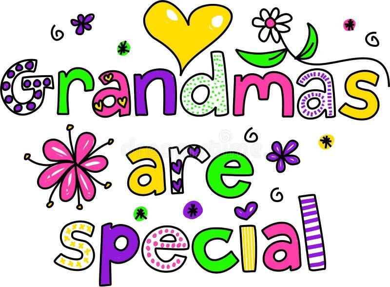 Las abuelas son especiales ilustración del vector