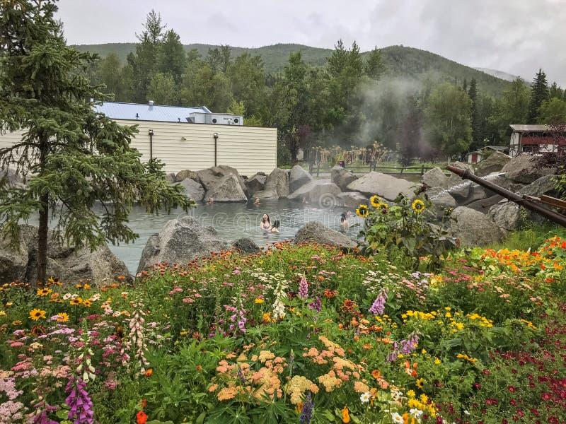 Las aguas termales de Chena recurren, Alaska imagen de archivo libre de regalías