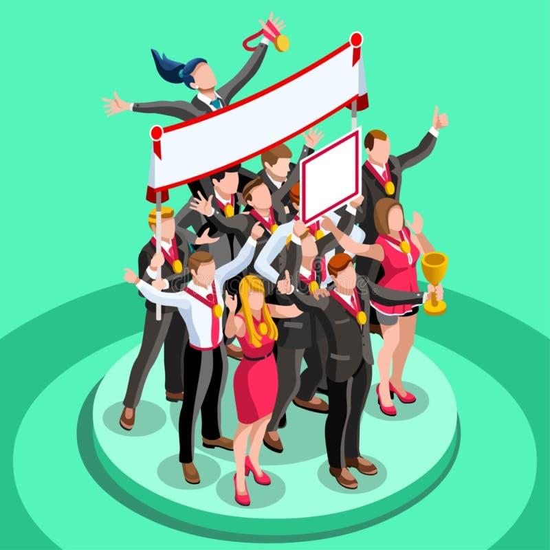 Las ambiciones ambiciosas de la carrera del cambio 17 del negocio vector concepto stock de ilustración