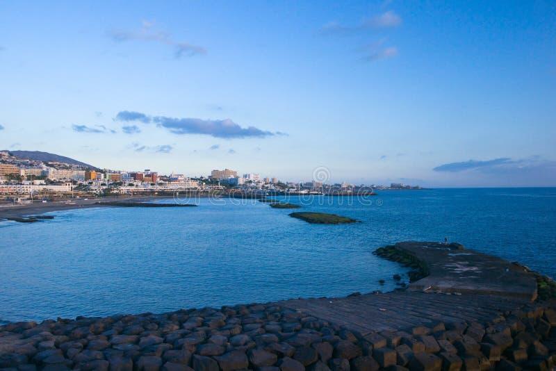 Las Americas coast evening view royalty free stock image