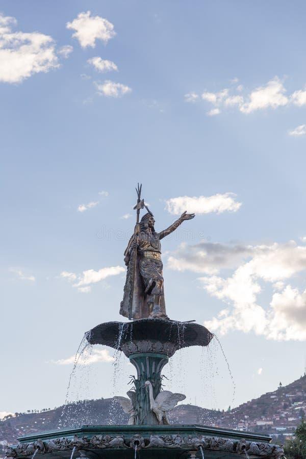 las Armas Cusco Peru de la plaza De d'inka de La image libre de droits