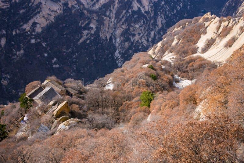 Las atracciones turísticas famosas en la provincia China, montaña de Shaanxi de Huashan fotos de archivo