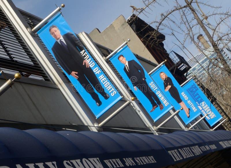Las banderas diarias NYC Tom Wurl de la demostración fotos de archivo
