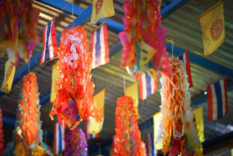Las banderas se adornan con las diversas banderas imagen de archivo
