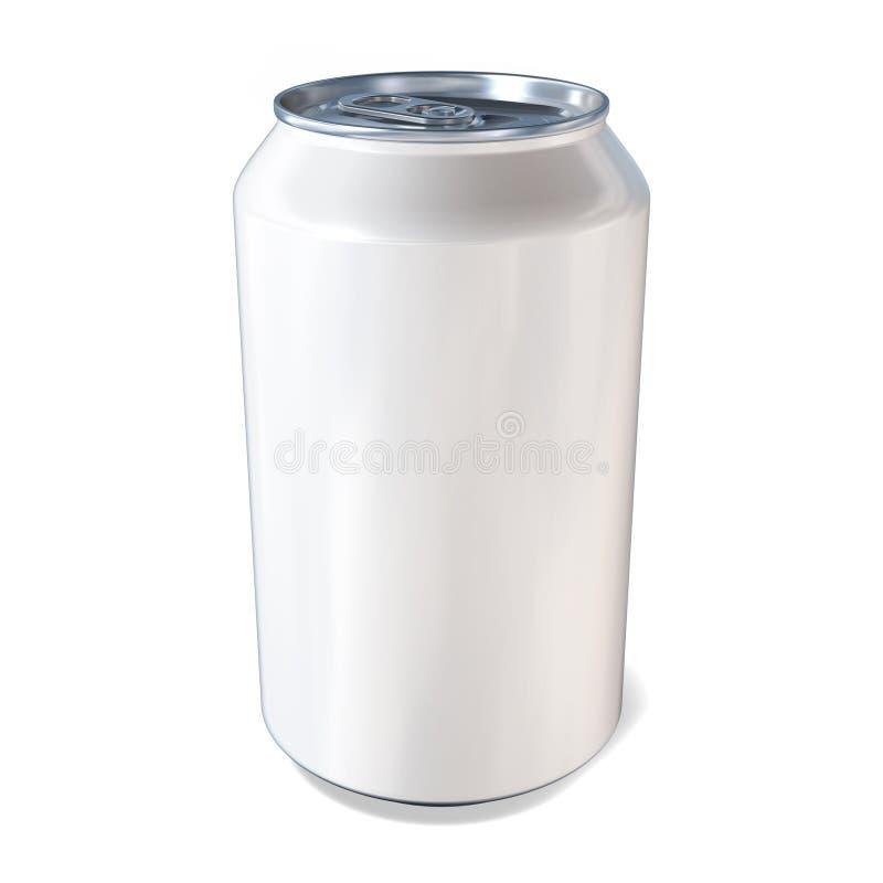 Las bebidas del metal pueden en blanco stock de ilustración