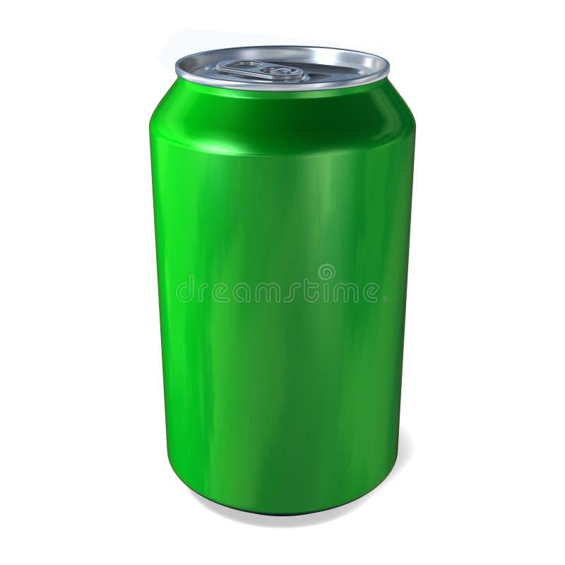 Las bebidas del metal pueden en verde imágenes de archivo libres de regalías