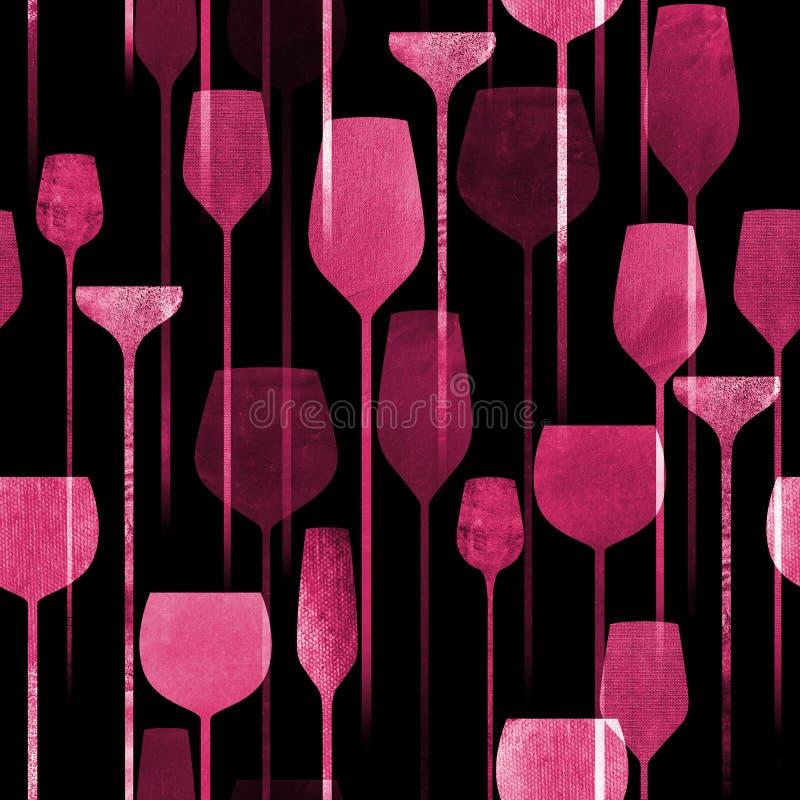 Las bebidas del partido texturizaron el modelo inconsútil libre illustration