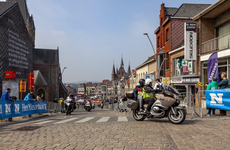 Las bicis de Officical - viaje de Flandes 2019 fotos de archivo libres de regalías