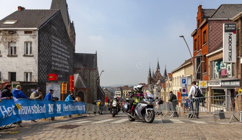 Las bicis de Officical - viaje de Flandes 2019 imagen de archivo libre de regalías