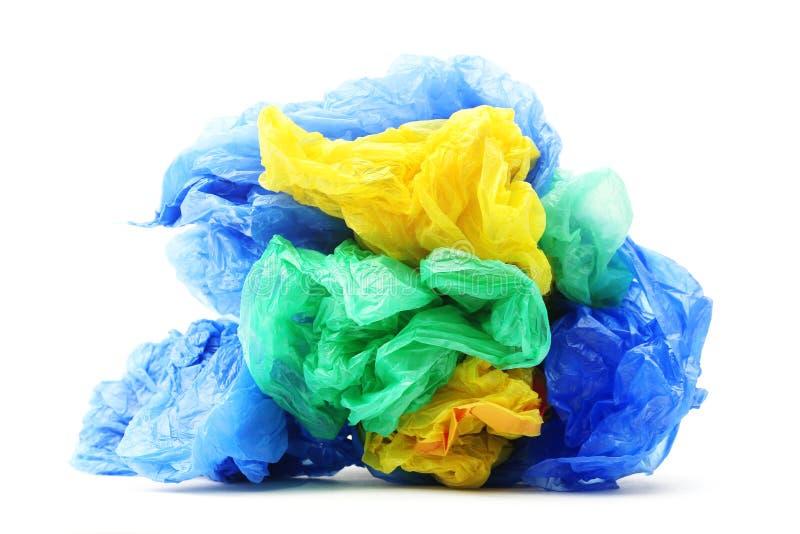Las bolsas de plástico de la basura foto de archivo