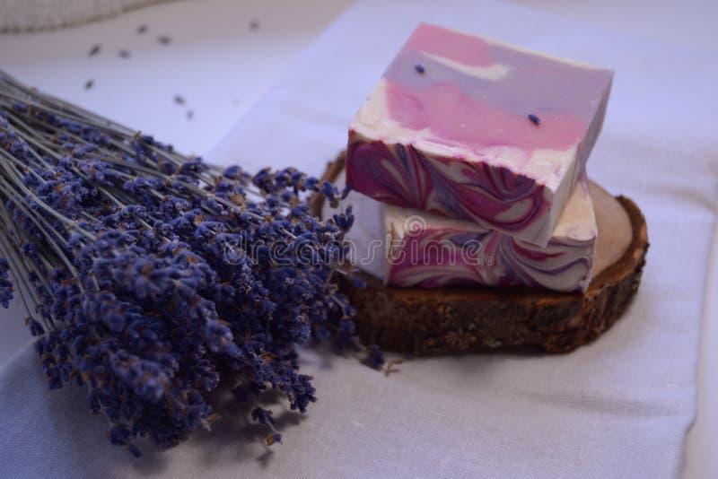 Las bombas de géier para liberar su espuma flor shimmer huele bien fotografía de archivo libre de regalías