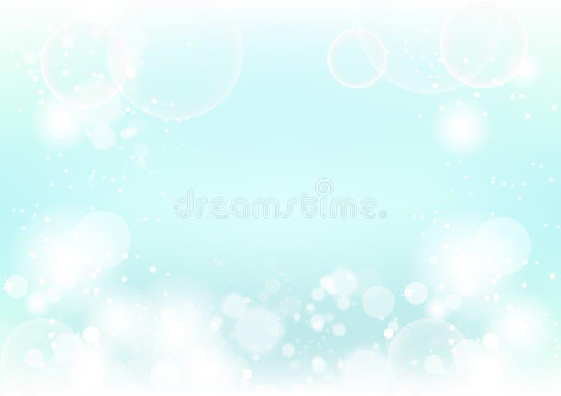 Las burbujas borrosas naturaleza mágica, estrellas del fondo del extracto dispersan ilustración del vector