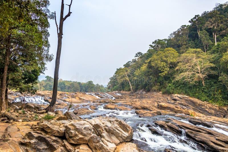 Las caídas de Vazhachal se sitúan en Athirappilly Panchayath del distrito de Thrissur en Kerala en la costa del sudoeste de la In imágenes de archivo libres de regalías