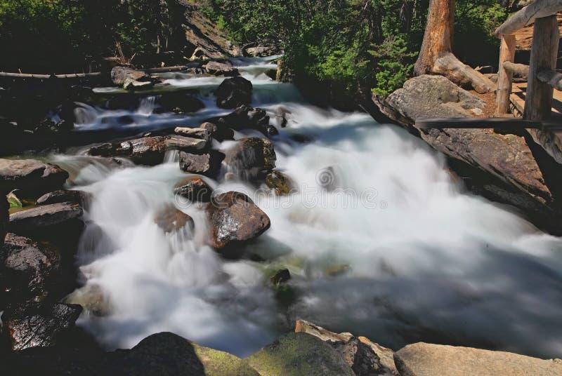 Las caídas ocultadas en Teton magnífico foto de archivo libre de regalías