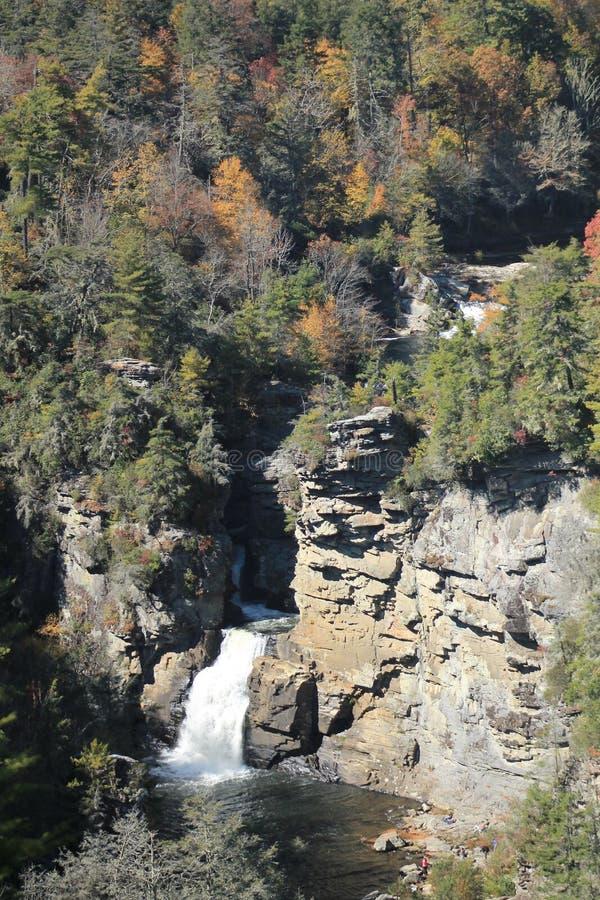 Las caídas superiores de Linville, NC fotografía de archivo libre de regalías