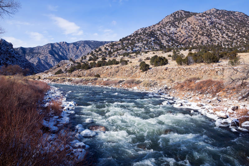Las cabeceras del río Arkansas, Colorado foto de archivo libre de regalías
