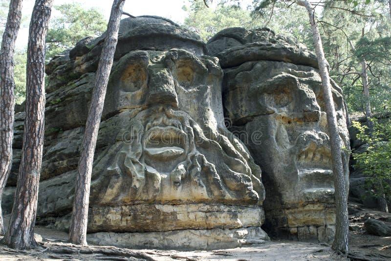 Las cabezas del diablo foto de archivo