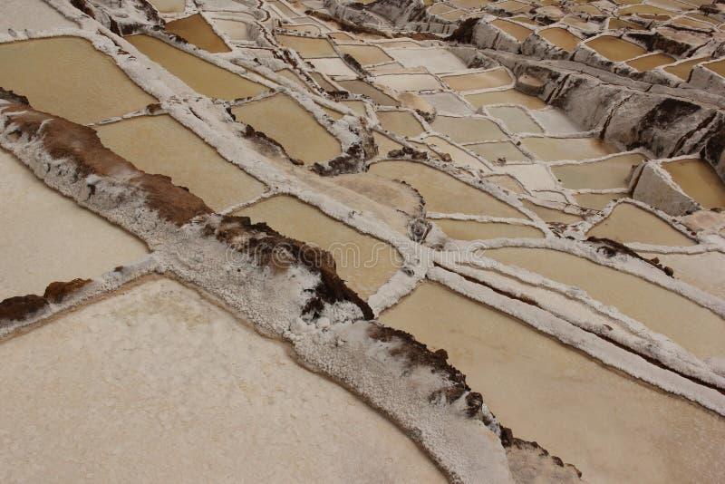 Las cacerolas de la sal de Maras fotografía de archivo libre de regalías