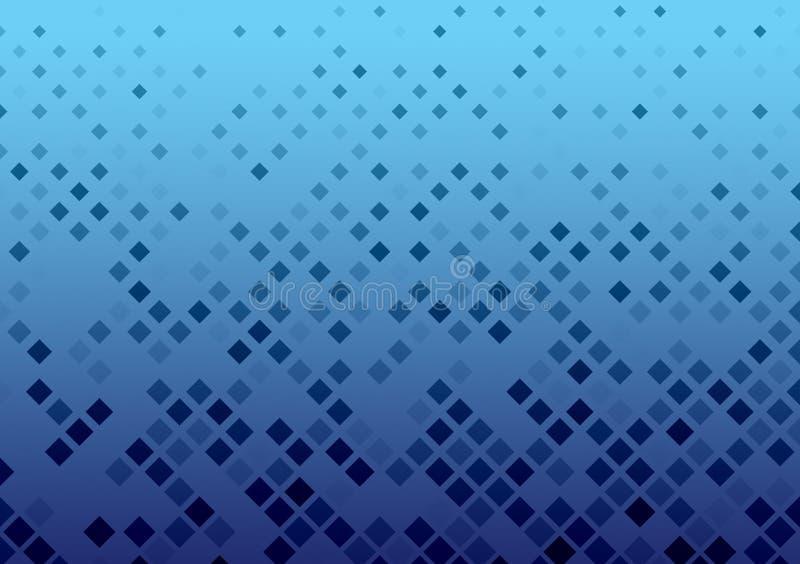 Las cajas azules modelaron diseño del fondo ilustración del vector