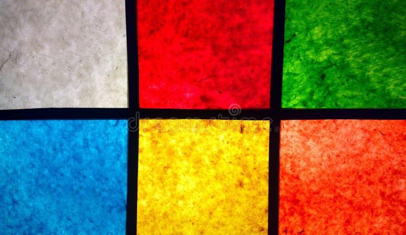 Las cajas de luz hechas del papel de la mora imagenes de archivo