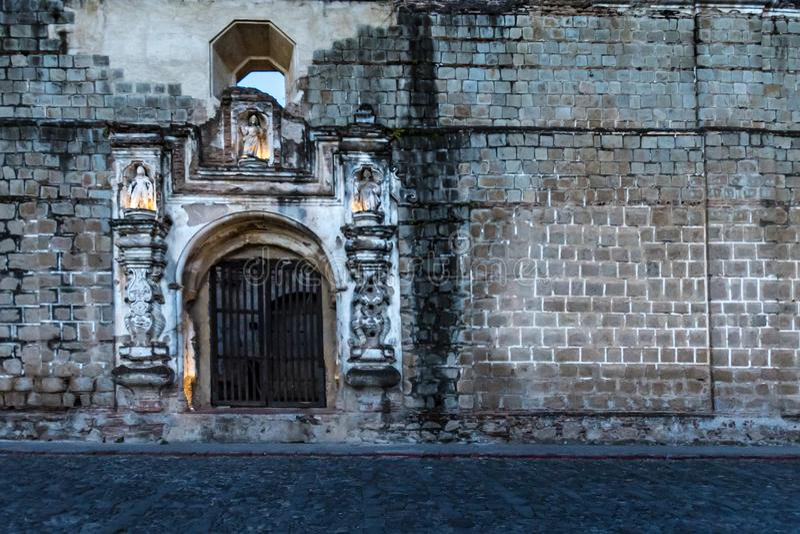 Las calles de Antigua, Guatemala foto de archivo libre de regalías