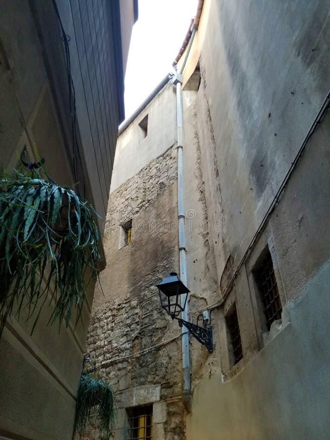 Las calles de los cuartos góticos Barcelona imágenes de archivo libres de regalías