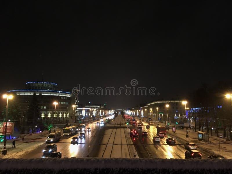 Las calles de St Petersburg antes del Año Nuevo fotos de archivo libres de regalías