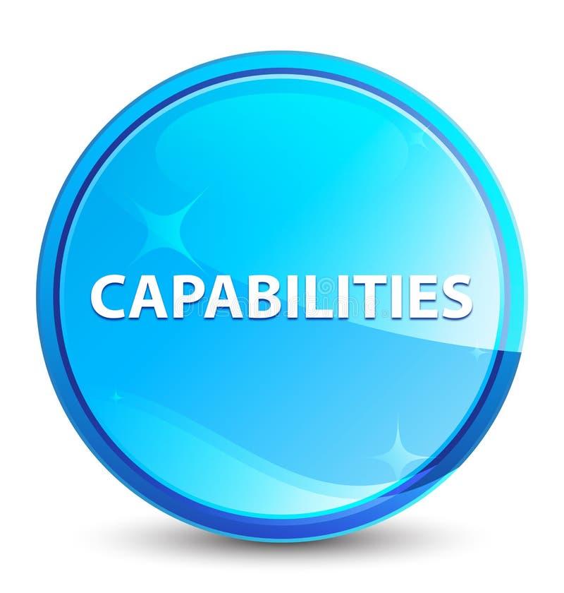 Las capacidades salpican el botón redondo azul natural libre illustration