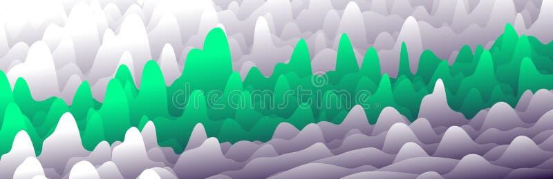Las capas coloridas en pendiente texturizan la bandera del vector, diseño abstracto del fondo para el sitio web stock de ilustración