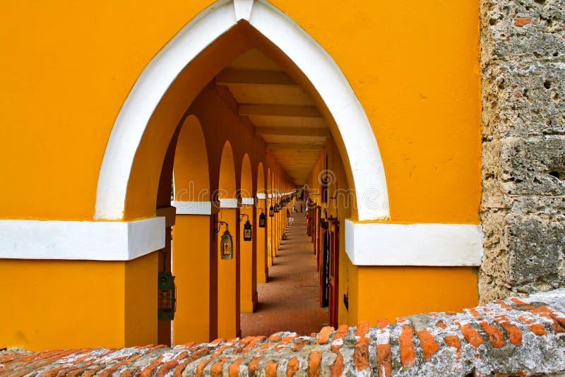 las cartagena Колумбии de indias bovedas стоковое фото rf