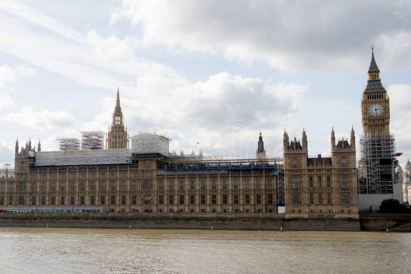Las casas británicas del parlamento que experimentan la renovación fotografía de archivo libre de regalías